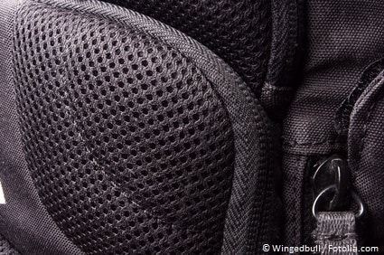 Rucksack mit Netzrücken