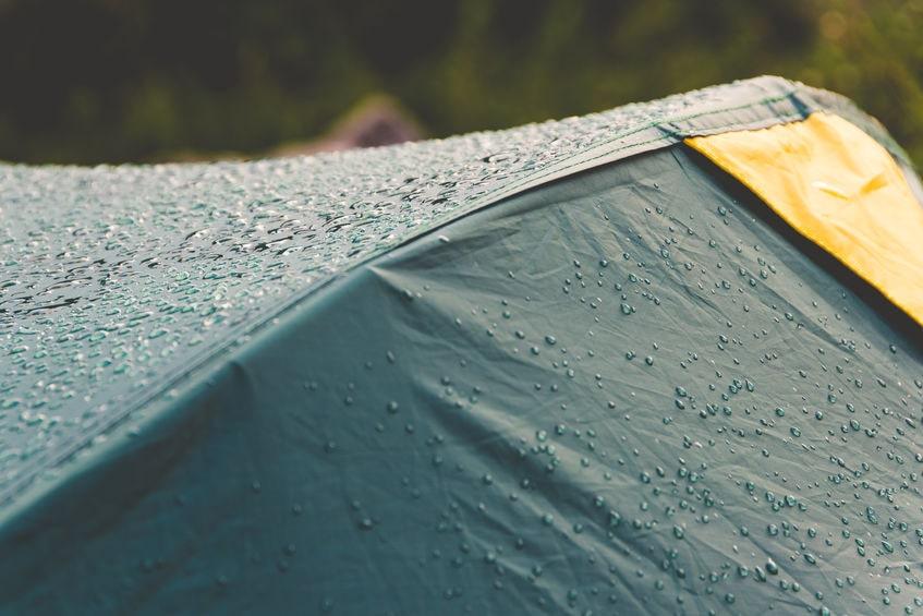 Zelt Wassersäule
