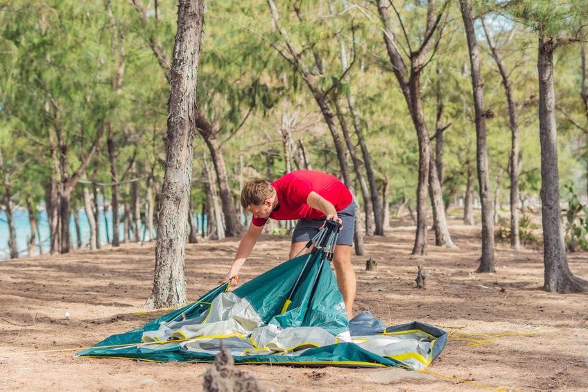 Klassische Zelt zu falten